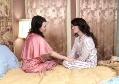 Ashlyn Rae in  Girlfriendsfilms Pin-Up Girls #09, Scene #04 June 27, 2016  Lingerie, Older Younger
