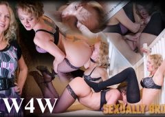 Rain DeGrey in  Sexuallybroken MW4W July 13, 2016  Strap On Sex, Black Ball Gag