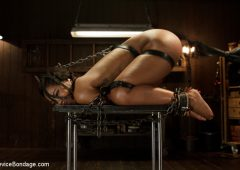 Chanell Heart in  Devicebondage Ebony Slut is Tormented and Machine Fucked!! February 07, 2014  Fingering, Bdsm