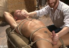Coby Mitchell in  Menonedge Hot cowboy tied up for the first time and shoots a load onto his face! July 14, 2015  Bdsm, Edging
