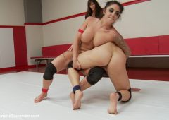 Lea Lexis in  Ultimatesurrender LightWeight match up with two of the best shit Talkers May 02, 2014  Lesbian, Pussy Eating