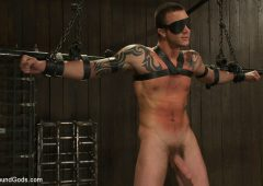 Cliff Jensen in  Boundgods Cliff Jensen bound and beaten for the first time. April 21, 2011  Bdsm, Muscle