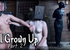 Elizabeth Thorn in  Infernalrestraints All Grown Up Part 2 July 17, 2015  Nipple Bondage, Caning