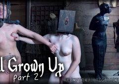 Elizabeth Thorn in  Infernalrestraints All Grown Up Part 2 July 17, 2015  Nipple Bondage, Caning