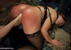 Bobbi Starr in  Everythingbutt Glorious German Butthole February 14, 2012  Lesbian Anal, Lesbian