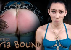 Aria Alexander in  Hardtied Aria Bound December 16, 2015  Vibrator, OTK